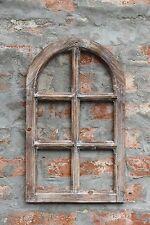 Dekorahmen Fenster Holz Dekofensterrahmen Holzfenster 49x30 braun Shabby Chic