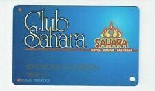 Las Vegas SAHARA Casino Hotel SLOT CARD / Players Club Card - closed