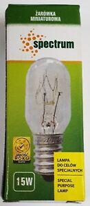 2x SPECTRUM 15W SES E14 130V PYGMY Lamp 15watt Bulb AJ3 130 Volts