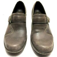 Clarks Womens Bendables Freesia Isle Brown Leather Slip On Heel Shoes Size 8.5 M