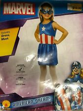 Captain America Dream Girl Classic Costume SIZE Medium 8-10 Marvel Comics 881730