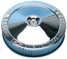 "Proform 14"" Chrome air cleaner w/Chevrolet /Bowtie logo"