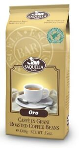 (22,89€/kg) Saquella Oro Bar Rainforest certified 1000g Espresso Bohne