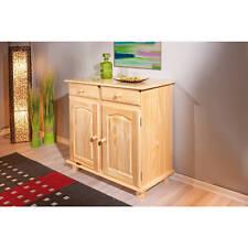Kommode Anrichte Sideboard Holzkommode Kiefer massiv natur 2-türig Schubladen