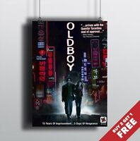 OLDBOY 2003 MOVIE POSTER A3 / A4 * Great Classic Cult Film Movie Wall Art Print