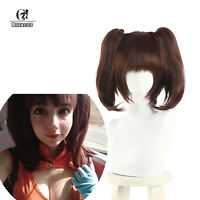 The Seven Deadly Sins Diane Cosplay Wigs 40cm Brown Clip on Ponytails Hair
