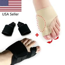 USA 4PCS Big Toe Bunion Splint Straightener Corrector Hallux Valgus Relief Pain