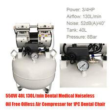 550W 40L 130L/min Oilless Noiseless Dental zahnarzt Kompressor für Dental Chair