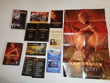 2 Game PC CD ROM GUILD WARS Online Gaming With No Fees FACTION POSTER MANUSCRIPT