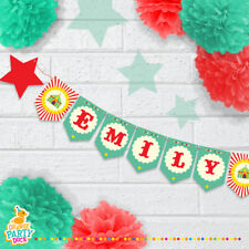 Personalised Childrens CIRCUS Showtime Magic Birthday Party Banner Bunting