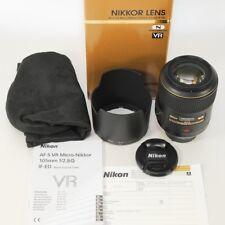 Nikon AF-SVRMicro-Nikkor 105mm f/2,8GIF-ED Nano/wie neu/komplett//Fotohändler