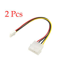 2 Pcs 4 Pin Molex To 3.5 Floppy Drive FDD Internal Power Cable Adaptor 20cm Hot