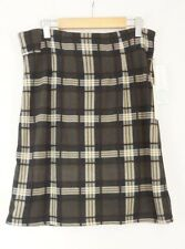 41 Hawthorn Skirt Womens Size Small Stitch Fix Jordanne Plaid A-Line Knit