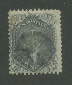 1861 États-unis Envoi Tampon #78 D'Occasion Déguisement Postal Cancel