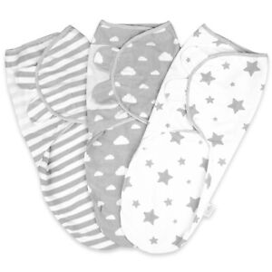 Little Seeds 100% Organic Cotton Swaddle Wrap Newborn Blanket