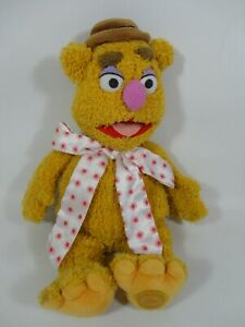"""The Muppets Fozzie Bear Disney Store Stamped Plush 16"""" Jim Henson Soft Toy Teddy"""