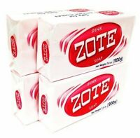 Zote Pink Laundry Detergent Stains Soap Bars Catfish Fishing Bait Makeup 7 OZ
