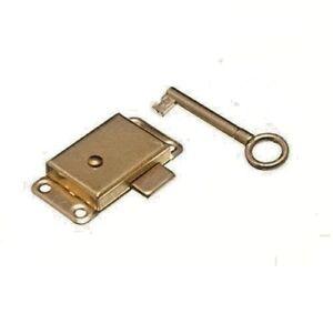 NEW WARDROBE CUPBOARD DRAWER CABINET DOOR LOCK AND KEY 52MM CEN047