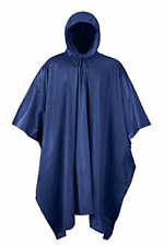 Blue Poncho PVC 100% Rain Waterproof Raincoat Idustrial Heavy Duty Anti Storm US