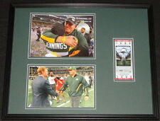 Mike McCarthy Framed 16x20 Super Bowl XLV Repro Ticket & Photo Set Packers