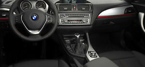 BMW OEM F22 F23 2 Series Coupe Conv. Aluminum Hexagon & Red Interior Trim Kit