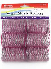 "ANNIE 1-3/4"" JUMBO WIRE MESH HAIR ROLLERS - 6 PCS. (1026)"