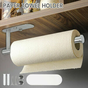 Bathroom Kitchen Paper Towel Holder Roll Holder Stand Self Adhesive Wall Mount.