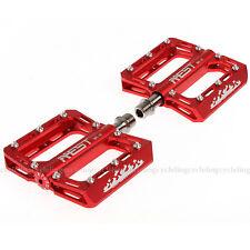New AEST Titanium Spindle Axle Bike Pedals Flat MTB BMX CNC Red
