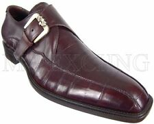 CESARE PACIOTTI MONK STRAP EEL LOAFERS SHOES US 8