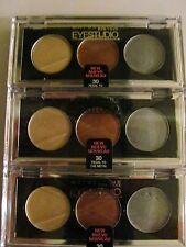 Maybelline Eyestudio Trio Cream Eyeshadow Set #30 Pedal to the Medal  Lot of 3