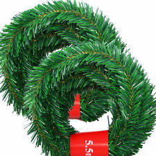 5.5m Artificial Green Pine Christmas Garland Decor Xmas Tree Rattan Decoration