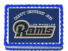 """NFL RAMS team/Los Angeles  Edible image Cake topper decoration 7.5:""""x10"""""""