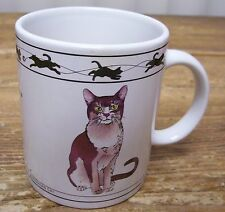 Cat Lovers Brown Chartreux Brown Mackerel Tabby Siberian Abyssinian Cat Mug Hh