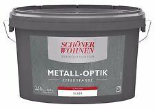 Trendstruktur Metall-optik glänzend Silber 2 5l