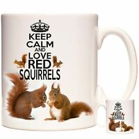 Squirrel Mug Keep Calm And Love Red Squirrel Can be personalised Dishwasher safe