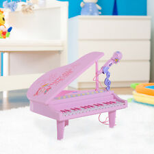 Kids Musical Electronic Keyboard Piano Microphone MP3 Record Playback Music Pink