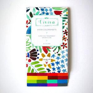 Viviva Colorsheet - 16 Colours - Portable, Dye-based Eco-friendly Watercolours