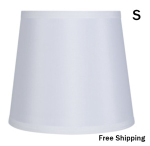 """New, Drum Fabric Lamp Shade, White, Dimensions: 7""""L x 9""""W x 8""""H, Free Shipping"""