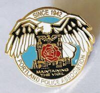 Portland Police Association Pin Badge Maintaining The Vigil Rare Vintage (G12)