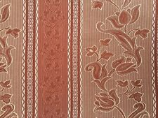 Belfield chocolate striped patterned curtain fabric//material Zurich Lime
