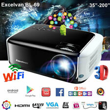 New listing Led Android 6.0 WiFi Wireless Projector Home Theater Bt 1080p Hdmi Usb Movie 8Gb