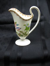 Miniature Minton CUCKOO 3934 Handled Sauce Boat Painted Pink/Lime/Aqua Bird