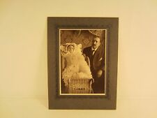 Edwardian 1905 Little Girl And Daddy Portrait Cabinet Photo  ......FREE SHIPPING