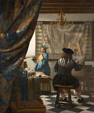 The Art of Painting Jan Vermeer Maler Atelier Modell Stafflei Pinsel B A3 02465