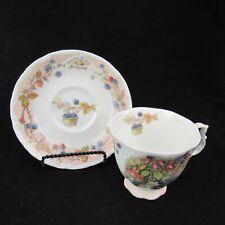 Royal Dalton English Bone China Jill Barklem 1983 Teacup and Saucer Set