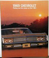 1969 Chevrolet Caprice Impala SS 427 Belair Biscayne Color Sales Brochure Orig