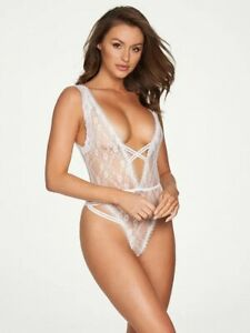 NEW Frederick's Of Hollywood Laurie All Over Lace White Teddy Size 1X