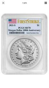 Morgan 2021 Silver Dollar S Mint Mark MS70 PCGS First Strike Presale CONFIRMED