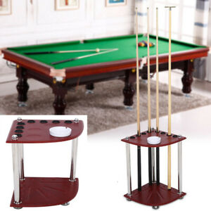 Billiard Cue Pool Rack Sticks Balls Storage Holder Floor Stand with Ashtray UK
