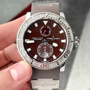 Ulysse Nardin Maxi Marine Diver Brown Dial Steel Titanium 43mm Men's Watch Box